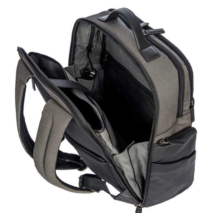 Monza Business Backpack - Black & Gray | Brics Travel Bags