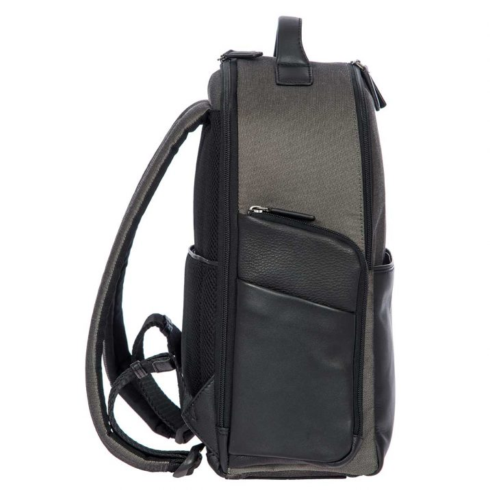 Monza Business Backpack - Black & Gray | Brics Travel Bags