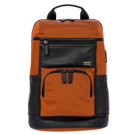 Torino Urban Backpack - Black & Orange | Brics Travel Bags