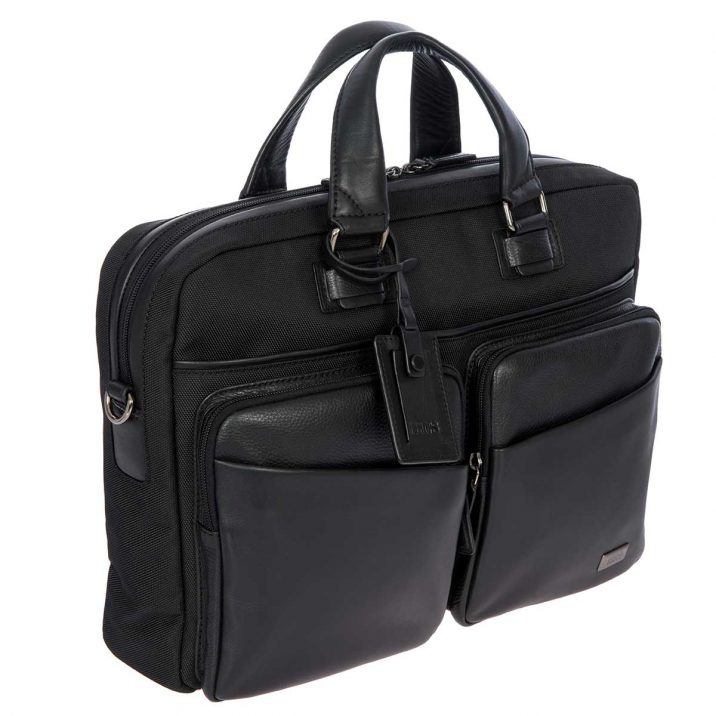 Monza Briefcase - Black | BRIC'S Luggage