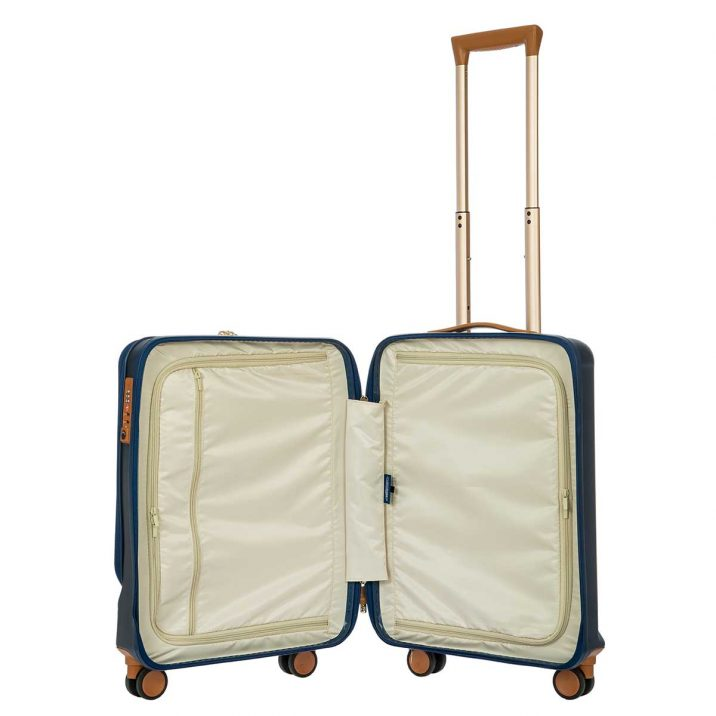 """Capri 21"""" Spinner with Pocket - Blue   BRIC'S Luggage"""